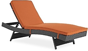 Modway Sojourn Outdoor Patio Sunbrella Rattan Chaise