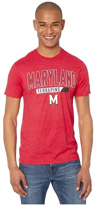 Champion College Maryland Terrapins Keystone Short Sleeve Tee (Athletic Red Novelty) Men's Clothing