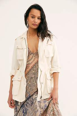 Free People Not Your Brother's Surplus Jacket by Free People, Ecru, XS