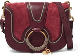 See by Chloe Hana Small Suede And Leather Shoulder Bag - Burgundy
