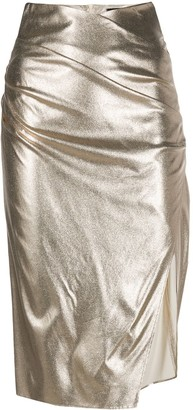 Elisabetta Franchi Metallic Pencil Skirt