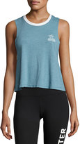 Spiritual Gangster Take It Easy Crop Tank Top, Blue