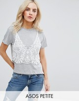 Asos T-Shirt With Lace Cami Overlay