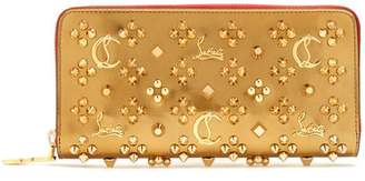 Christian Louboutin Panettone Embellished Leather Wallet - Womens - Gold