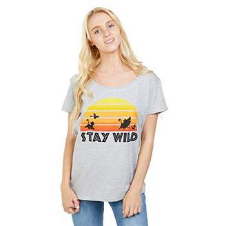 Disney Women's Lion King Stay Wild T-Shirt,12 (Size:Medium)