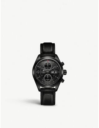 Hamilton H71626735 Khaki Field Auto Chrono PVD coated steel and woven bracelet field watch