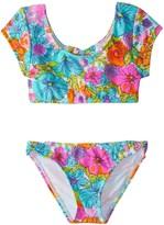 Hobie Girls' Fleur to Love Crop Top Bikini Set (714) - 8152014