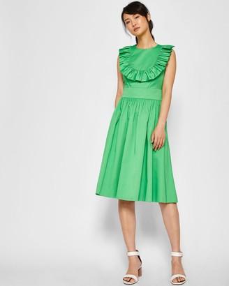 Ted Baker A-line Ruffle Bib Midi Dress