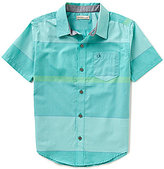Calvin Klein Big Boys 8-20 Gloaming Horizontal Striped Short-Sleeve Chambray Shirt
