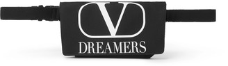 Valentino Logo-Print Canvas Belt Bag