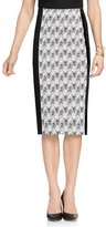Vince Camuto Herringbone Jacquard Knit Pencil Skirt