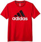 adidas Boys 8-20 Climalite Logo Tee