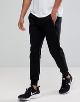 Polo Ralph Lauren Performance Sweat Pants Cuffed Tapered Fit In Black