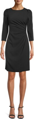Anne Klein Side Ruched Sheath Dress