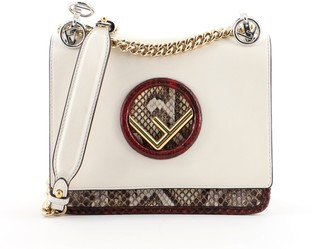 Fendi Kan I F Shoulder Bag Leather and Python Small