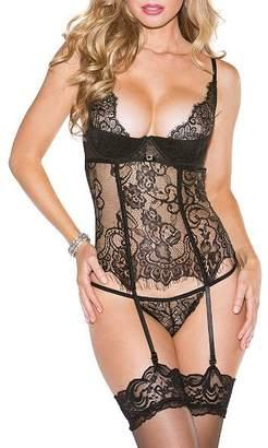 Shirley of Hollywood Eyelash Lace Bustier Set