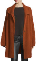 Diane von Furstenberg Avril Angora-Blend Oversized Cardigan Coat, Carnelian
