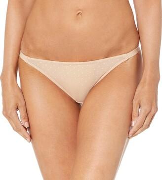 Mae Amazon Brand Women's Mesh Dot String Bikini 3 Pack