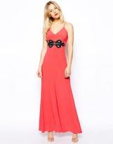 Asos Crochet Trim Maxi Dress