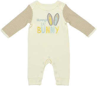 Baby Starters Rompers Ivory - Ivory & Beige 'Mommy's Lil Bunny' Playsuit - Infant