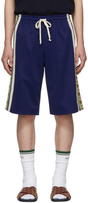 Gucci Blue Ribbon Logo Shorts