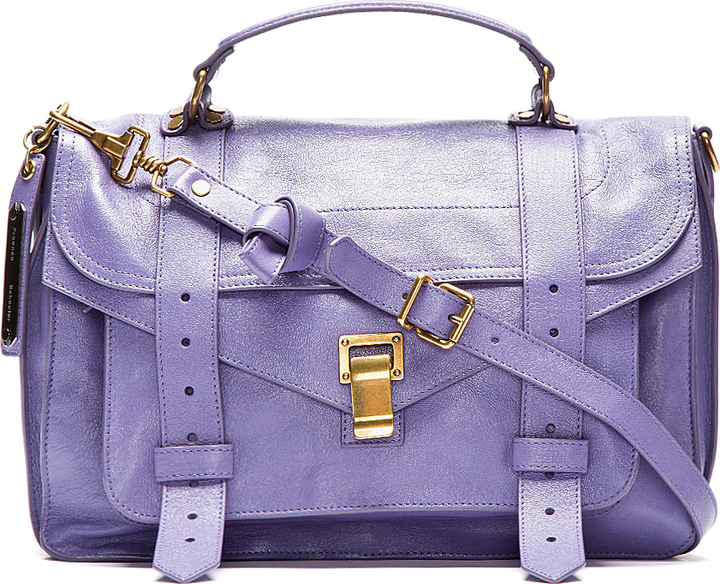 Proenza Schouler Berry Purple PS1 Medium Lux Leather Shoulder Bag