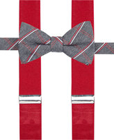 Alfani Men's Holiday Grid Bow Tie & Suspender Set, Only at Macy's