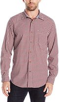 Nautica Men's Classic Fit Navy Plaid Button-Down Shirt