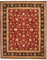"""Nourison Closeout! Royalty RO57 Burgundy 7'9"""" x 9'9"""" Hand-Knotted Rug"""