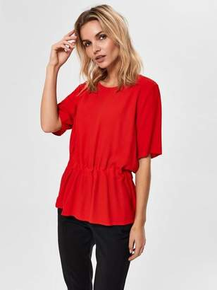 Selected Tanna Top - 34 / True Red - Red