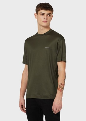 Emporio Armani Lustrous Jersey T-Shirt With Front Logo