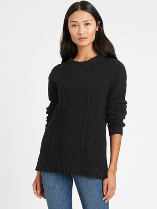 Banana Republic Cable-Knit Sweater Tunic