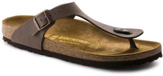 Birkenstock Gizeh Birko-Flor Nubuck in Mocha 43751 - 37 | leather | brown - Brown/Brown