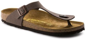 Birkenstock Gizeh Birko-Flor Nubuck in Mocha 43751 - leather | brown | 41 - Brown/Brown