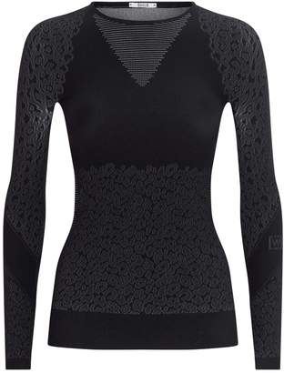 Wolford Cheetah Print Long-Sleeved Top