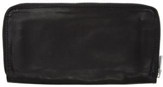 Guidi Black Large Kangaroo Zipped Wallet