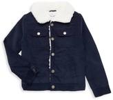 Splendid Little Boy's Faux Fur Collar Corduroy Jacket