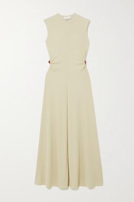 CHRISTOPHER ESBER Orbit Fran Embellished Cutout Ribbed-knit Maxi Dress - Ecru