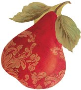 Caspari Set of Four Die-Cut Gift Tags with Gold Cord, Gilded Pears