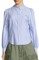 Marc Jacobs Bishop-Sleeve Button-Down Oxford Shirt