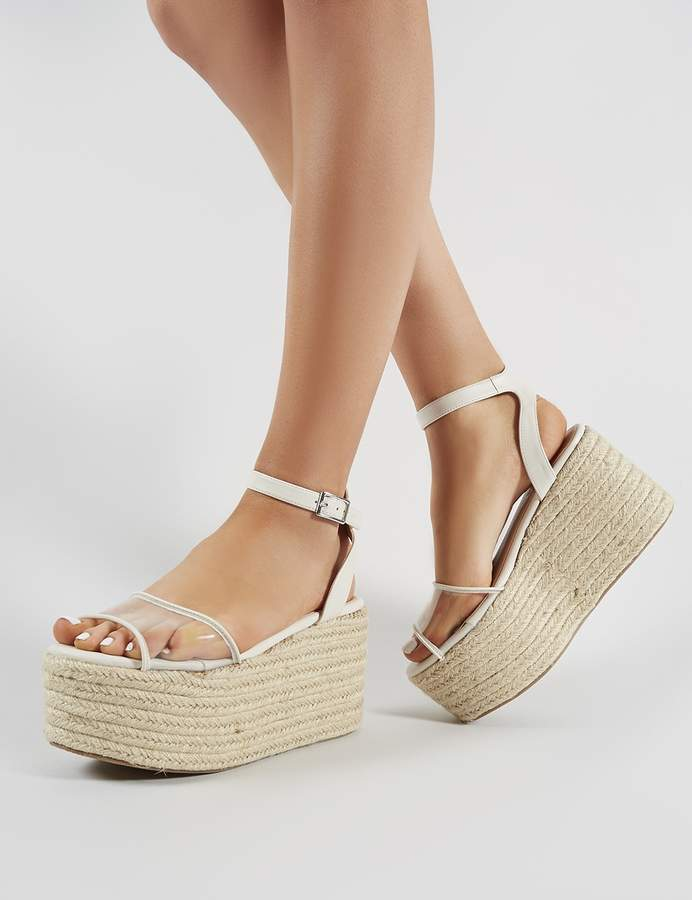 075fd81dfee Tarini Perspex Espadrille Flatform Sandals
