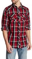 Burnside Regular Fit Spread Collar Plaid Shirt