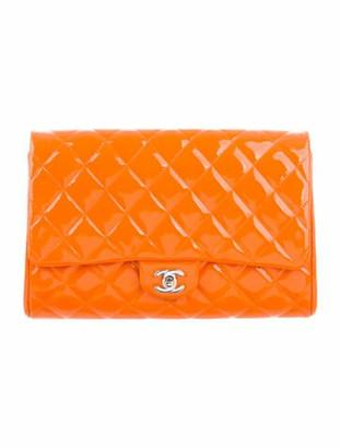 Chanel Patent New Clutch Orange