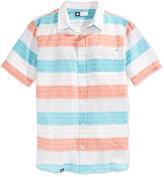 Lrg Men's Trinidad Stripe Short-Sleeve Shirt