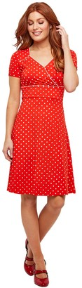 Joe Browns Polka Dot Mid-Length Dress with Short Sleeves