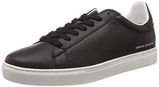 Armani Exchange A|X Men's Low Rise Leather Lace Up Sneaker