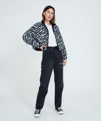 Misfit You Baby Sherpa Jacket Zebra