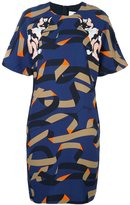 MSGM cat print shift dress