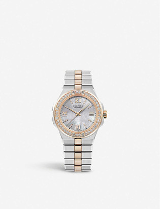 Chopard Alpine Eagle 18ct rose-gold, diamond and steel small watch