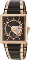 Edox Men's 72012 357RN NIR Les Bemonts Hand Winding Rose and Black Watch